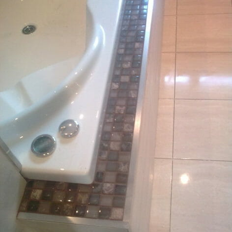 Bath Tile Edging Detail