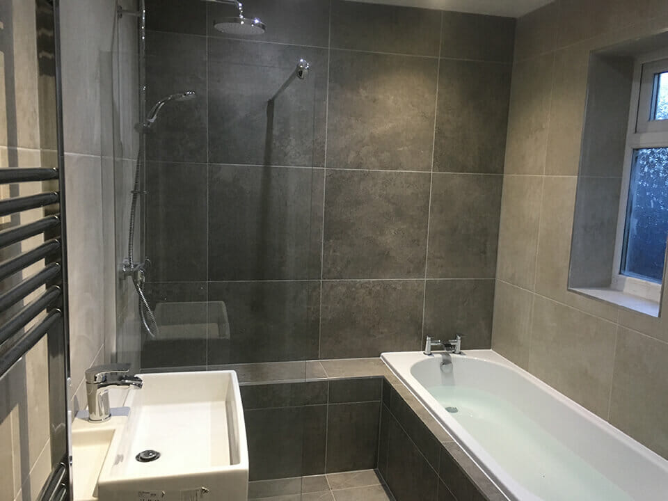 Slate Tiled Bathroom Design & Installation