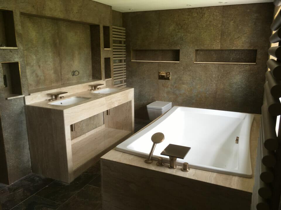 Marble Bathroom with Designer Taps & Shower Head