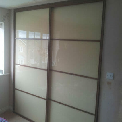 Built in Wardrobe - Glass & Wood