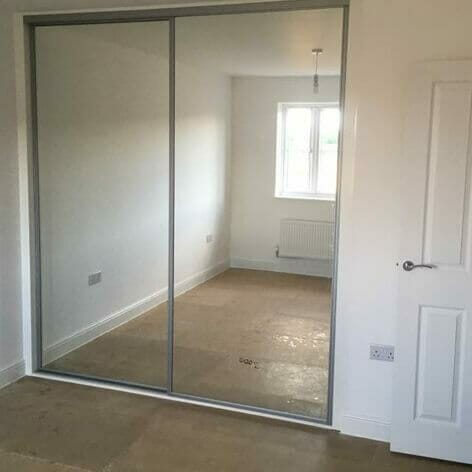 Fitted Wardrobes with Mirrored Doors -Consett