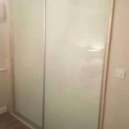 Glass & Metal Fitted Wardrobe