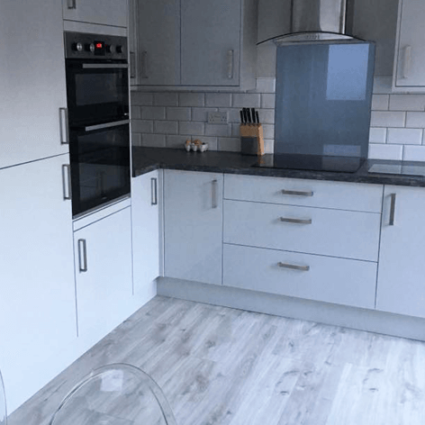 Modern Grey Kitchen Design - Durham