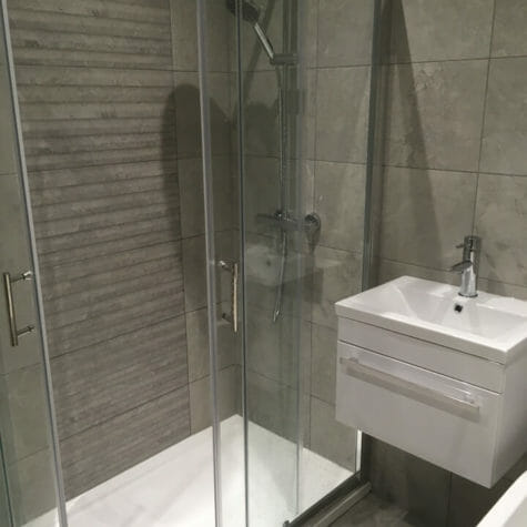 Walk-in Shower Installation, Floor & Tiling