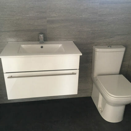 Modern Wall Mounted Sink & Soft Close Toilet