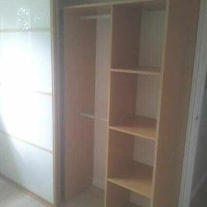 Wood & Glass Bespoke Wardrobe